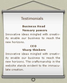 Our clients testimonials about our web design, SEO, web development and Brochure Designing