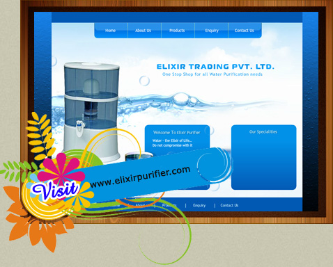 web design for water purifier