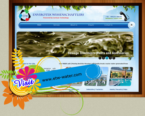 Website design for water treatment plant